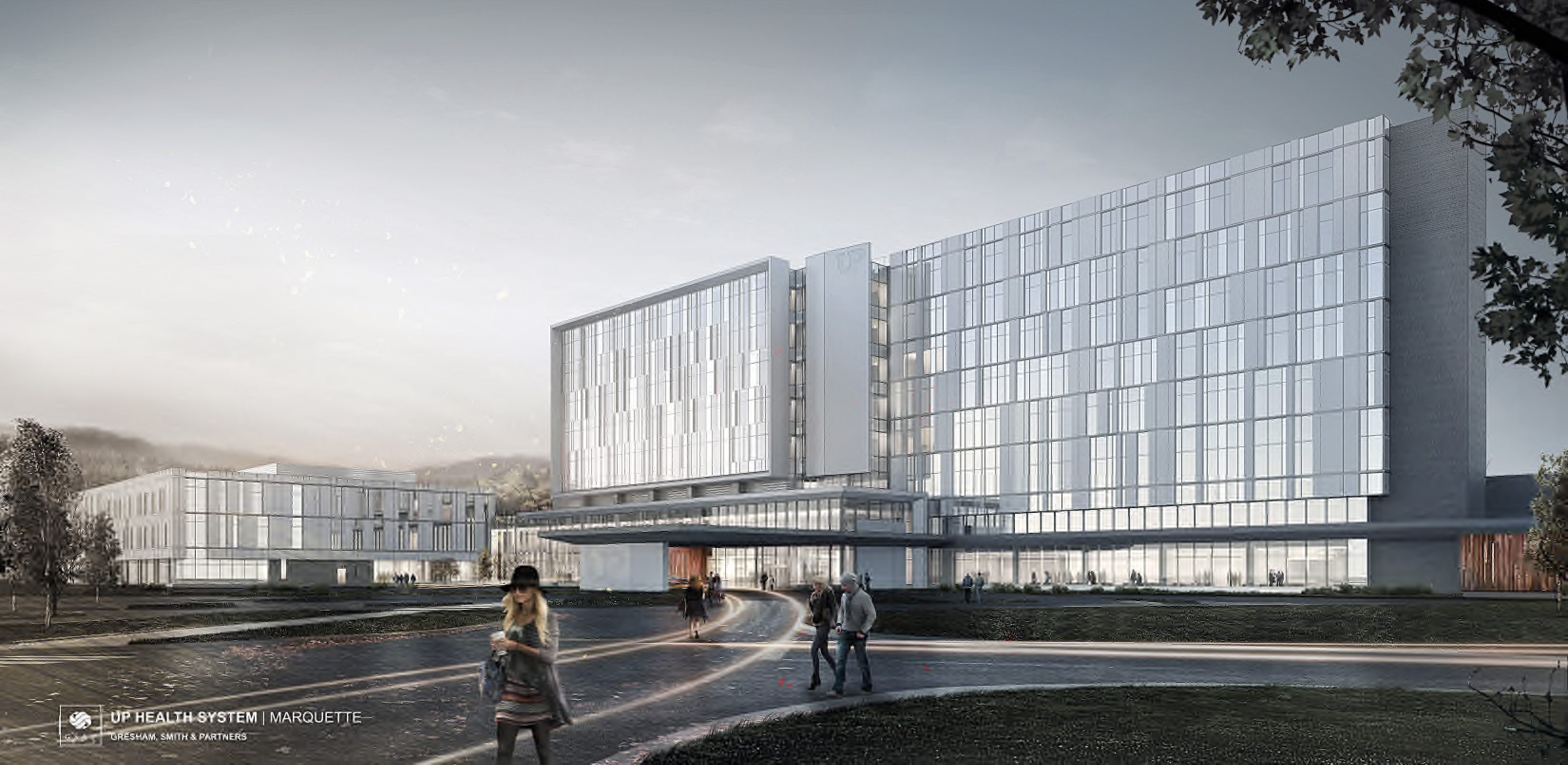 Architectural renderings of the new up health system for Architektur renderings