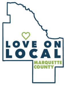 love on local logo decal green logo for card